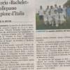 """La Gazzetta: """"Calcio a 5. Oratorio «Bachelet» di Collepasso campione d'Italia"""""""