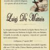 E' morto Luigi De Matteis