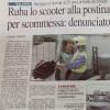 """Un turista milanese, in vacanza a Gallipoli, """"ruba lo scooter alla postina per scommessa…"""": la """"malcapitata postina"""" è di Collepasso"""