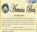 È morta Antonia Braj in Specchia