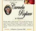 È morta Carmela Rigliaco in Verardi