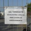 """La """"foto del giorno"""": l'Ecocentro chiuso da cinque mesi """"per lavori di adeguamento"""""""
