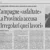 """La Gazzetta del Mezzogiorno: """"Campagne «asfaltate». La Provincia accusa: «irregolari quei lavori»"""""""