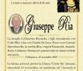 È morto Giuseppe Ria