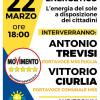 """""""Reddito energetico. L'energia del sole a disposizione dei cittadini"""": incontro M5S a Collepasso (ven. 22 marzo, ore 18.00)"""