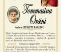 È morta Tommasina Orsini, ved. Baglivo