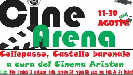 """Il cinema Ariston aderisce al progetto governativo """"CineArena"""": cinque film all'aperto nell'atrio del Castello (11-30 agosto)"""
