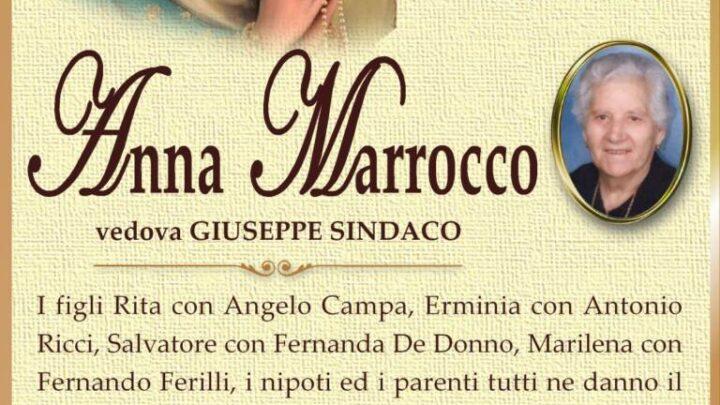 È morta Anna Marrocco, ved. Sindaco