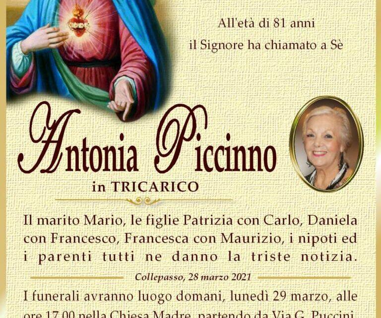 È morta Antonia Piccinno in Tricarico