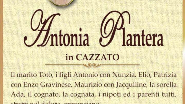 È morta Antonia Plantera in Cazzato