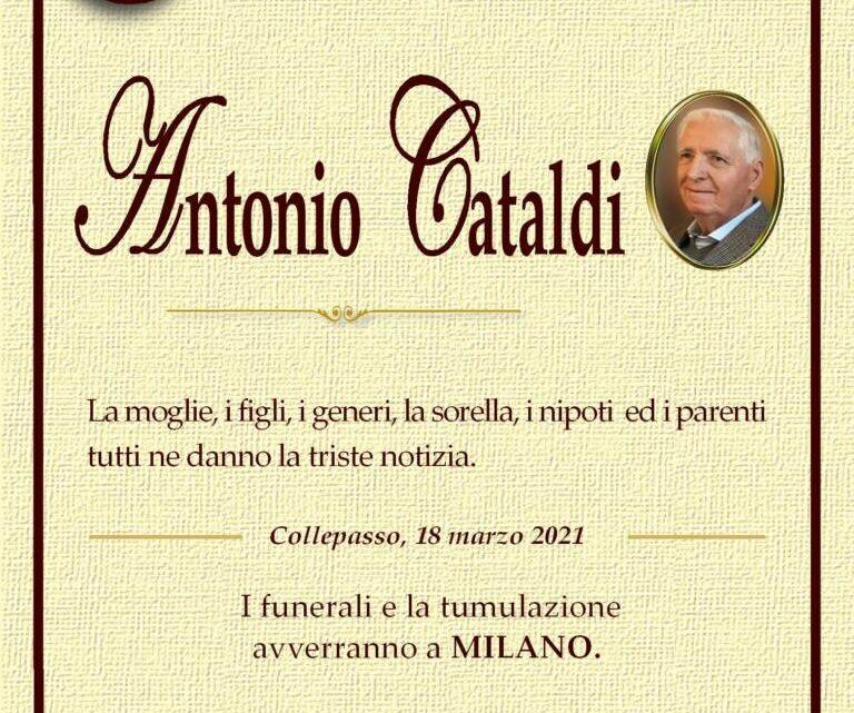 È morto Antonio Cataldi