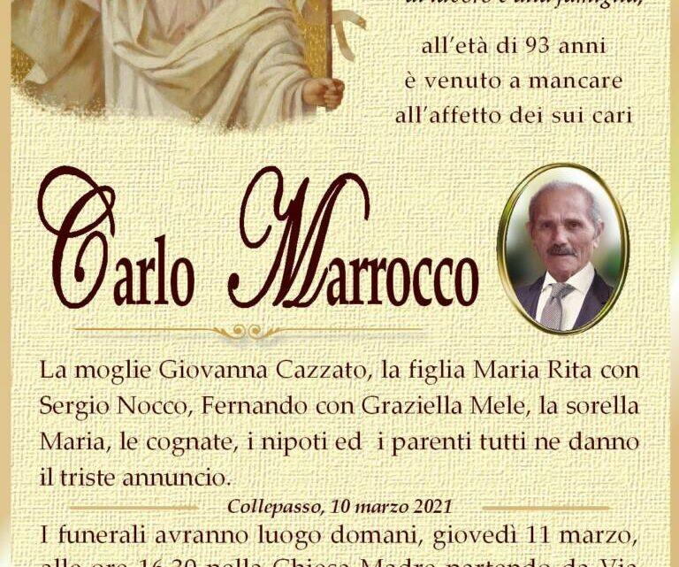 È morto Carlo Marrocco