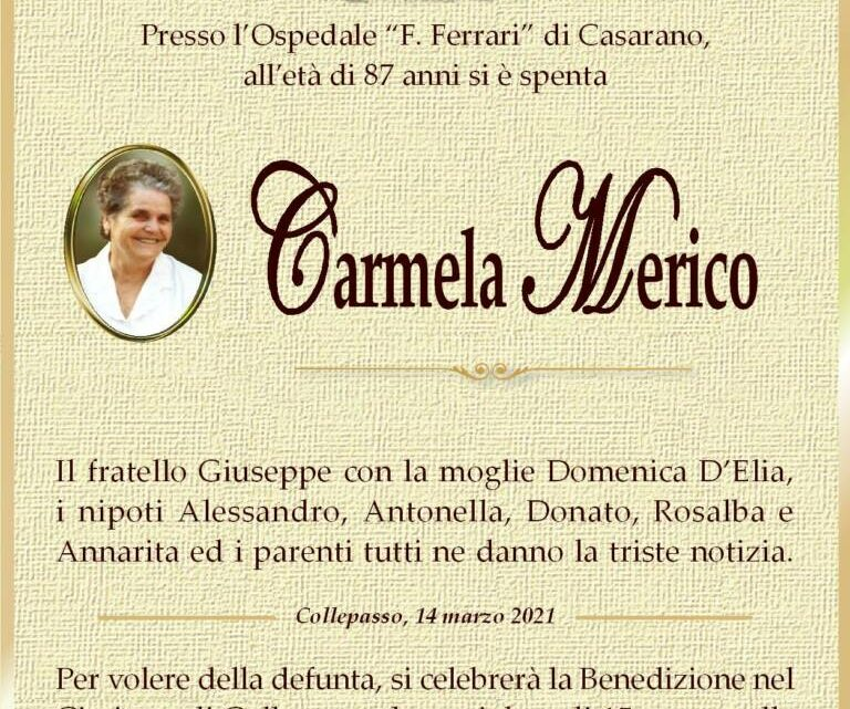 È morta Carmela Merico