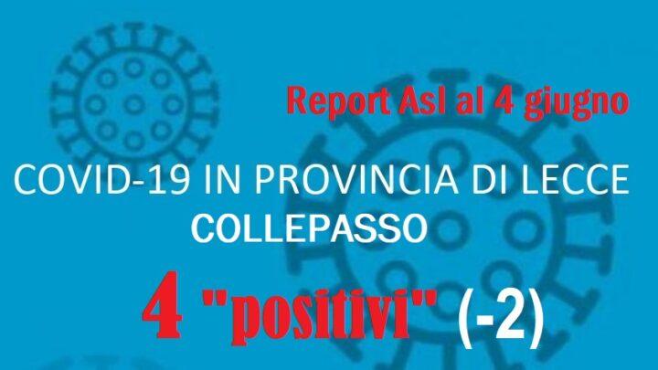 """Report Asl Covid: ulteriore riduzione dell'incidenza pandemica. A Collepasso 4 """"positivi"""" (-2)"""