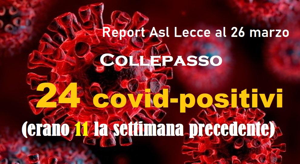 Report Covid Asl 26.3.2021: in una settimana a Collepasso oltre il doppio dei contagi (da 11 a 24)