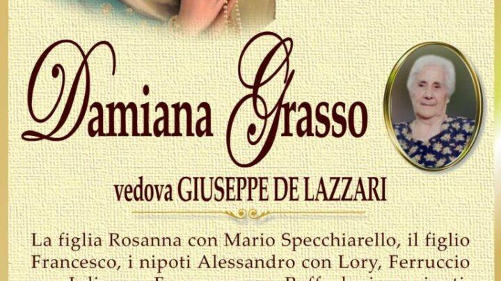 È morta Damiana Grasso, ved. De Lazzari