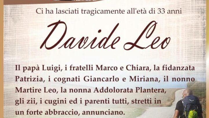 È morto Davide Leo