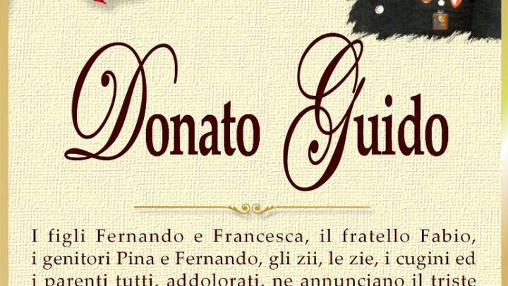 È morto Donato Guido