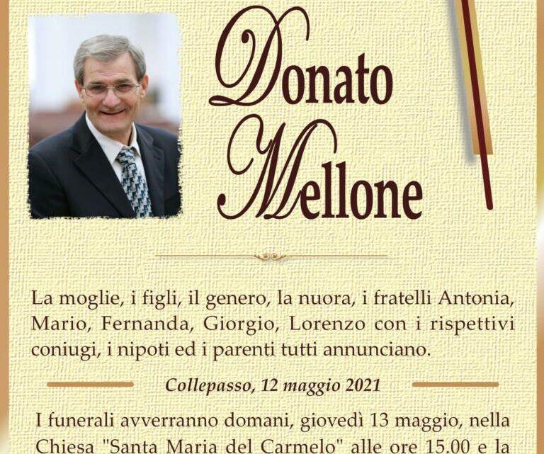 È morto Donato Mellone