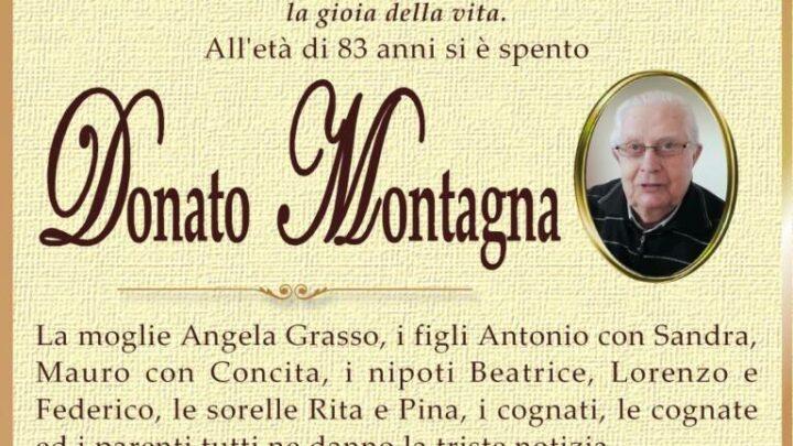 È morto Donato Montagna