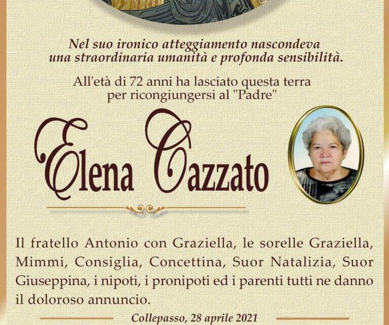 È morta Elena Cazzato