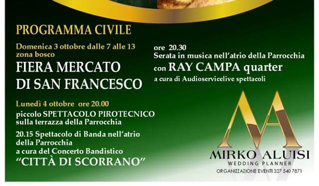 """XXVII Fiera San Francesco (domenica 3 ottobre, ore 7-13) nel rione """"Bosco"""""""