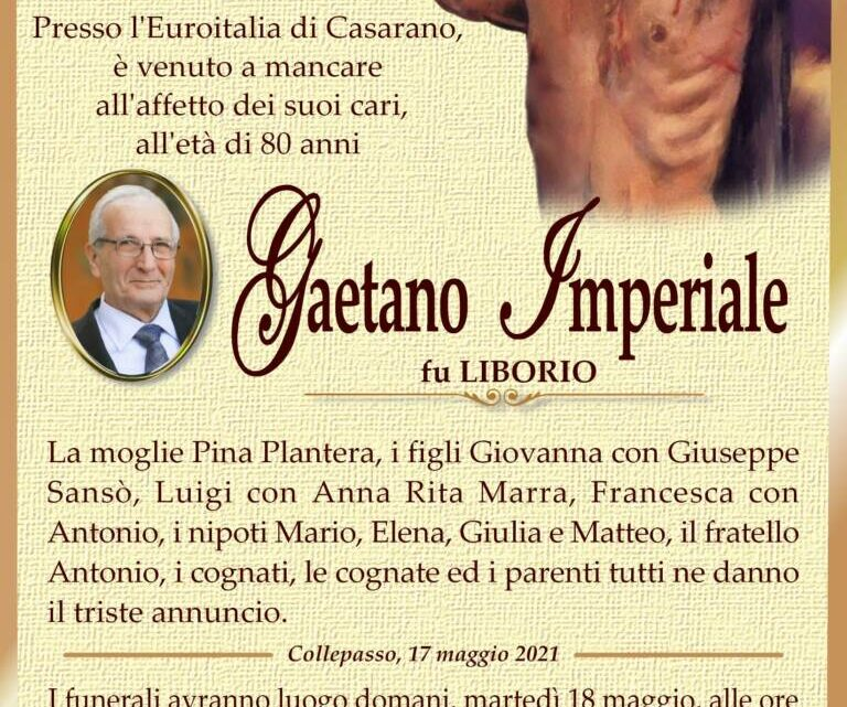 È morto Gaetano Imperiale