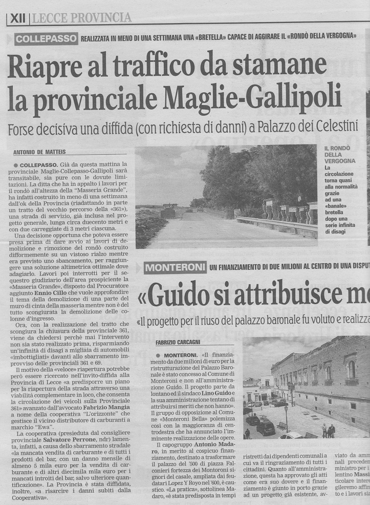 La Gazzetta del Mezzogiorno, venerdì 4 ottobre 2013