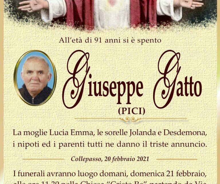 È morto Giuseppe Gatto