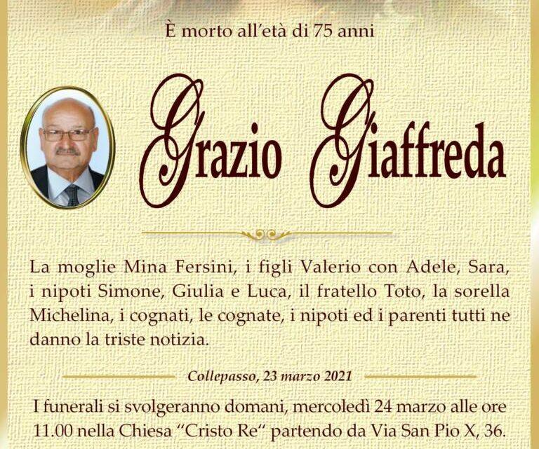 È morto Grazio Giaffreda