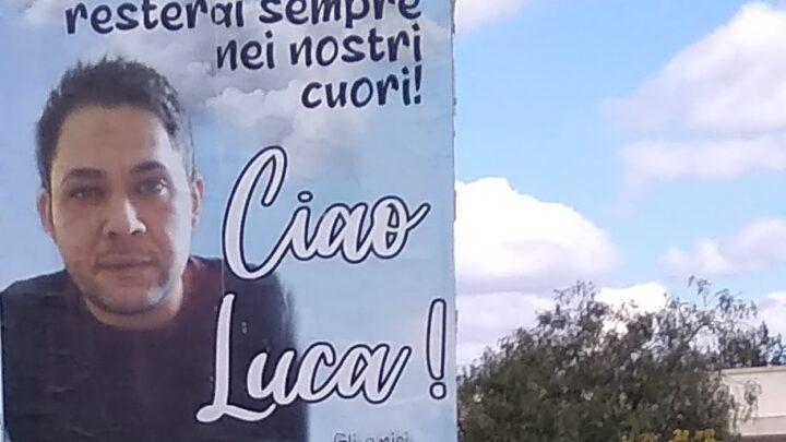 """""""Buona missione da angelo! Ciao Luca! … giovane dalle spalle forti e dal cuore grande"""""""
