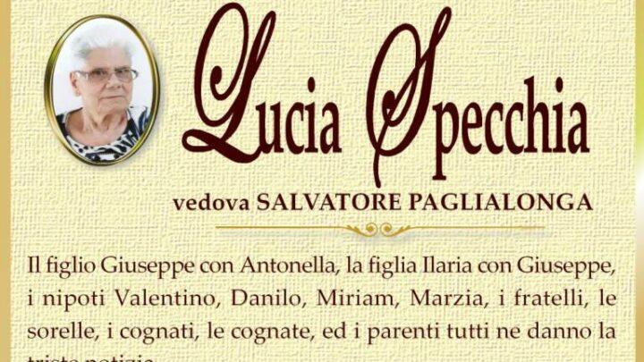 È morta Lucia Specchia, ved. Paglialonga