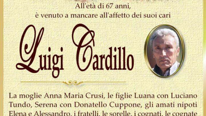 È morto Luigi Cardillo