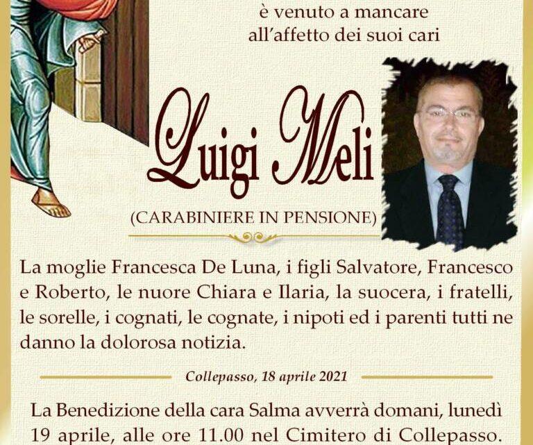 È morto Luigi Meli