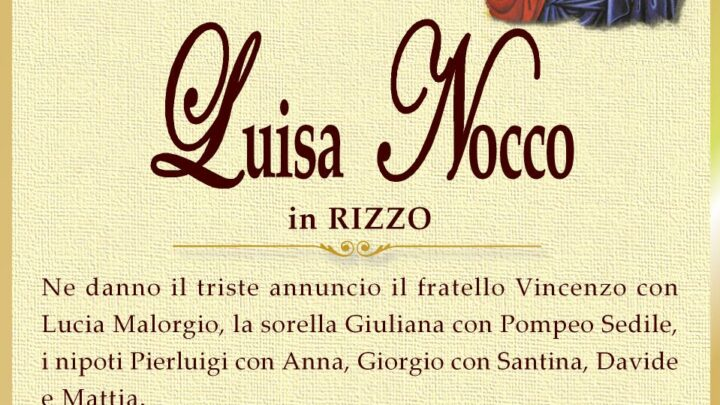 È morta Luisa Nocco
