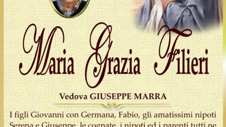 È morta Maria Grazia Filieri, ved. Marra