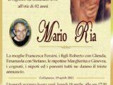 È morto Mario Ria