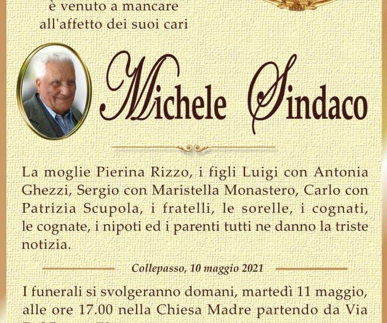 È morto Michele Sindaco