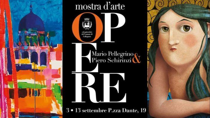 """Mostra d'arte in piazza Dante: le """"Opere"""" di Mario Pellegrino e Piero Schirinzi (3-13 settembre)"""