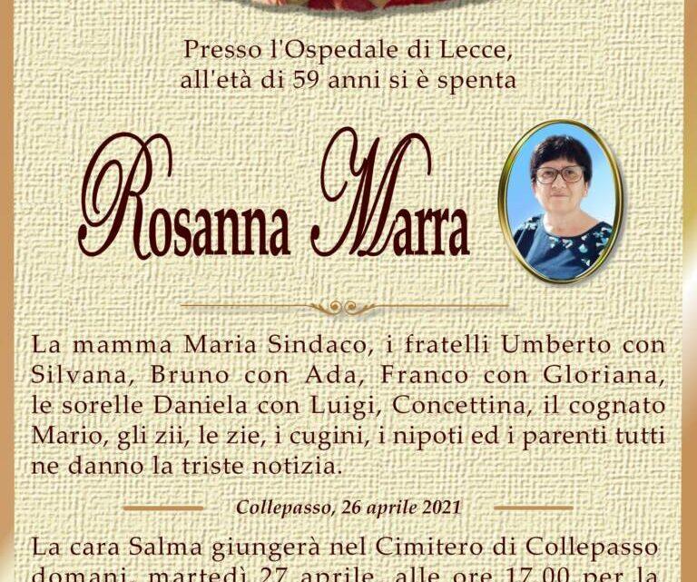 È morta Rosanna Marra