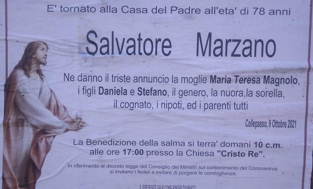 È morto Salvatore Marzano