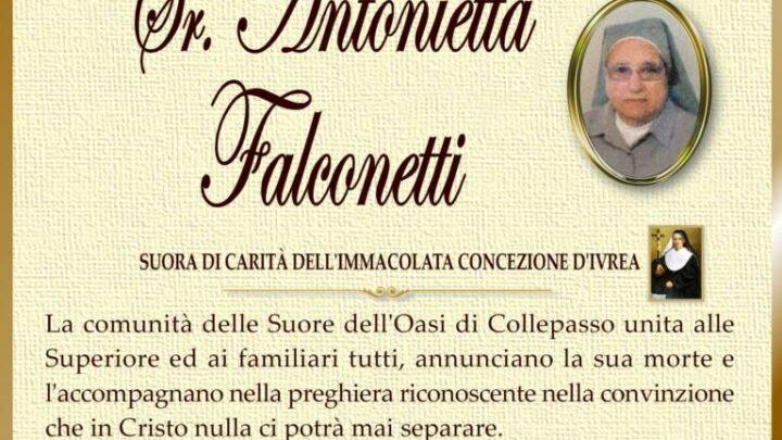 È morta Sr. Antonietta Falconetti