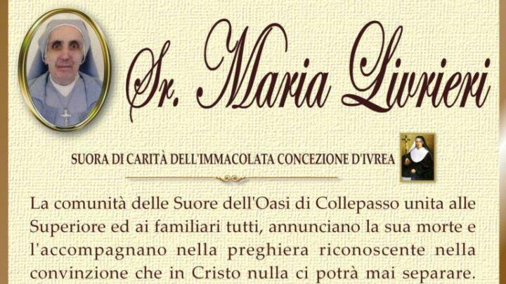 È morta Sr. Maria Livrieri