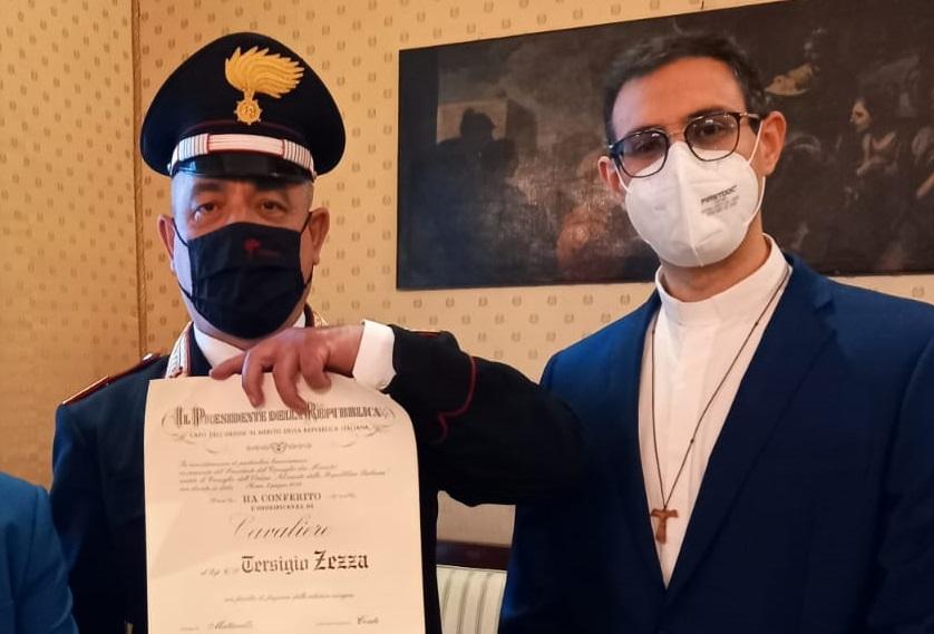 Il Lgt. Tersigio Zezza insignito dell'Onorificenza di Cavaliere al Merito della Repubblica Italiana