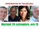 I quattro candidati sindaci a confronto su Telerama (martedì 28 settembre, ore 13)