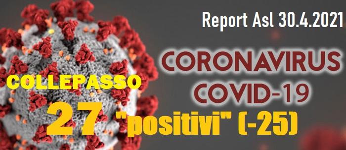 """Report Asl Covid: a Collepasso 27 """"attualmente positivi"""" (-25) e un'altra vittima"""